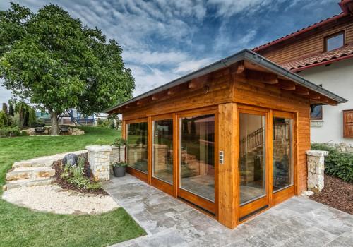 Exklusive Gartensauna Mit Holzdusche Und Ruheraum With Aussen Sauna Bausatz